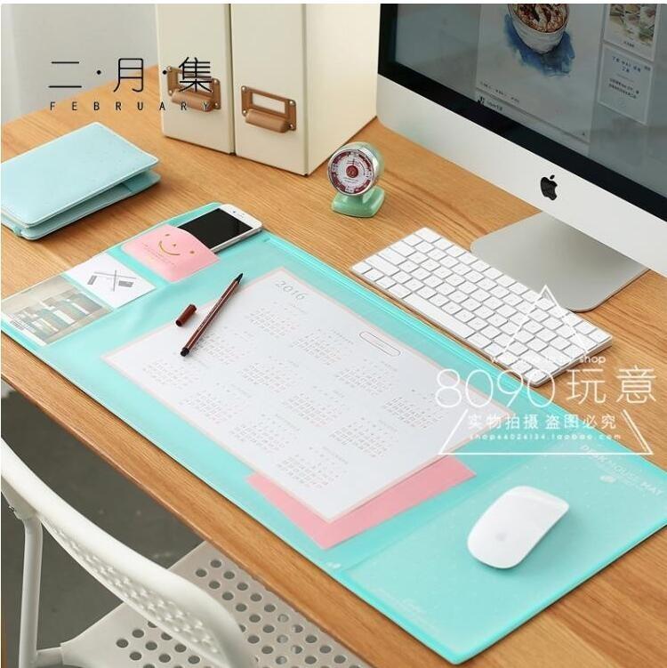 滑鼠墊 正韓超大號創意電腦辦公桌墊書桌墊多功能滑鼠墊可愛游戲桌面女生 免運