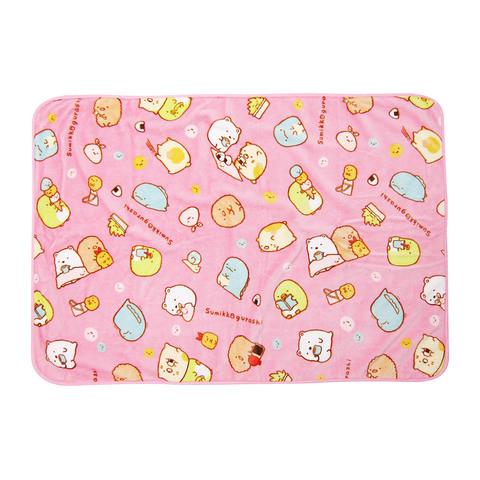 角落小夥伴 簡單生活法蘭絨毯(粉色)