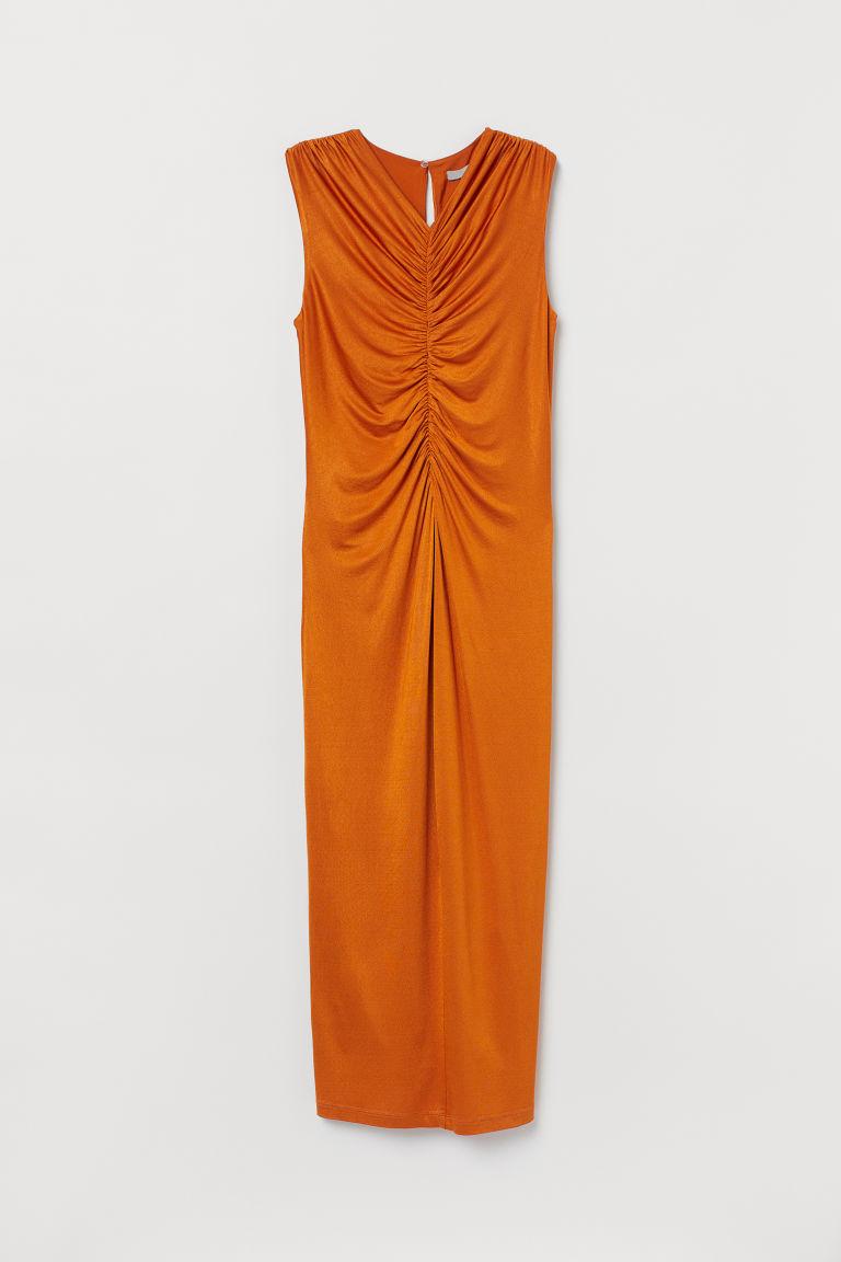 H & M - 垂墜感洋裝 - 黃色
