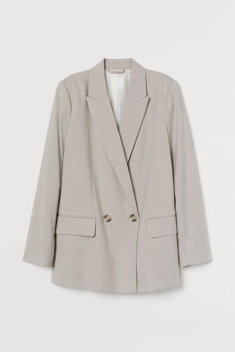 H & M - 雙排扣外套 - 褐色
