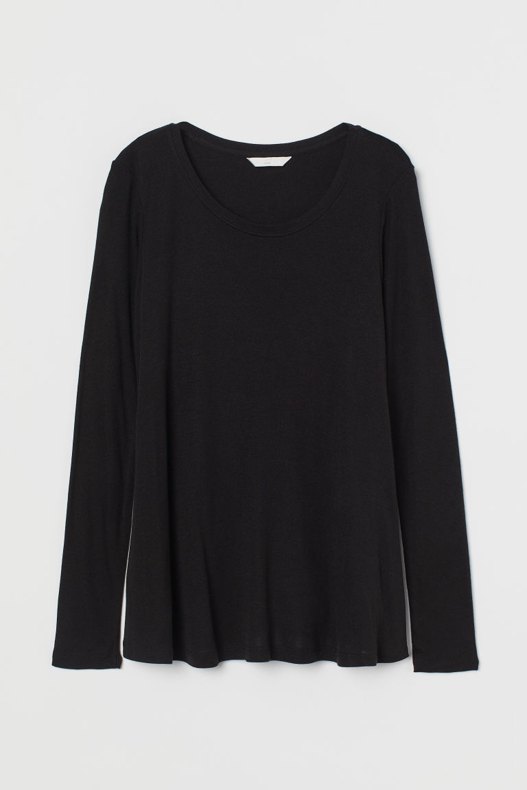 H & M - MAMA 萊賽爾哺乳上衣 - 黑色