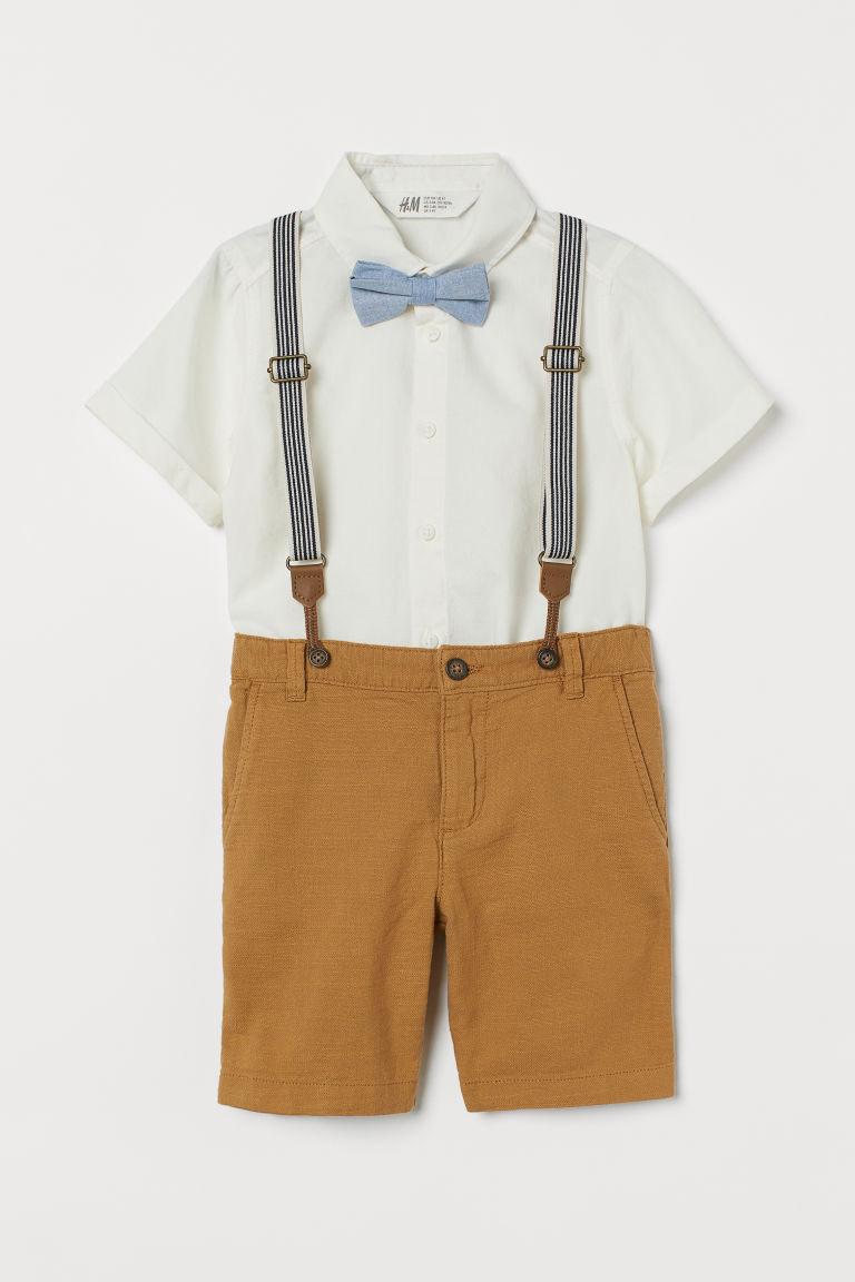 H & M - 棉質3件組套裝 - 黃色
