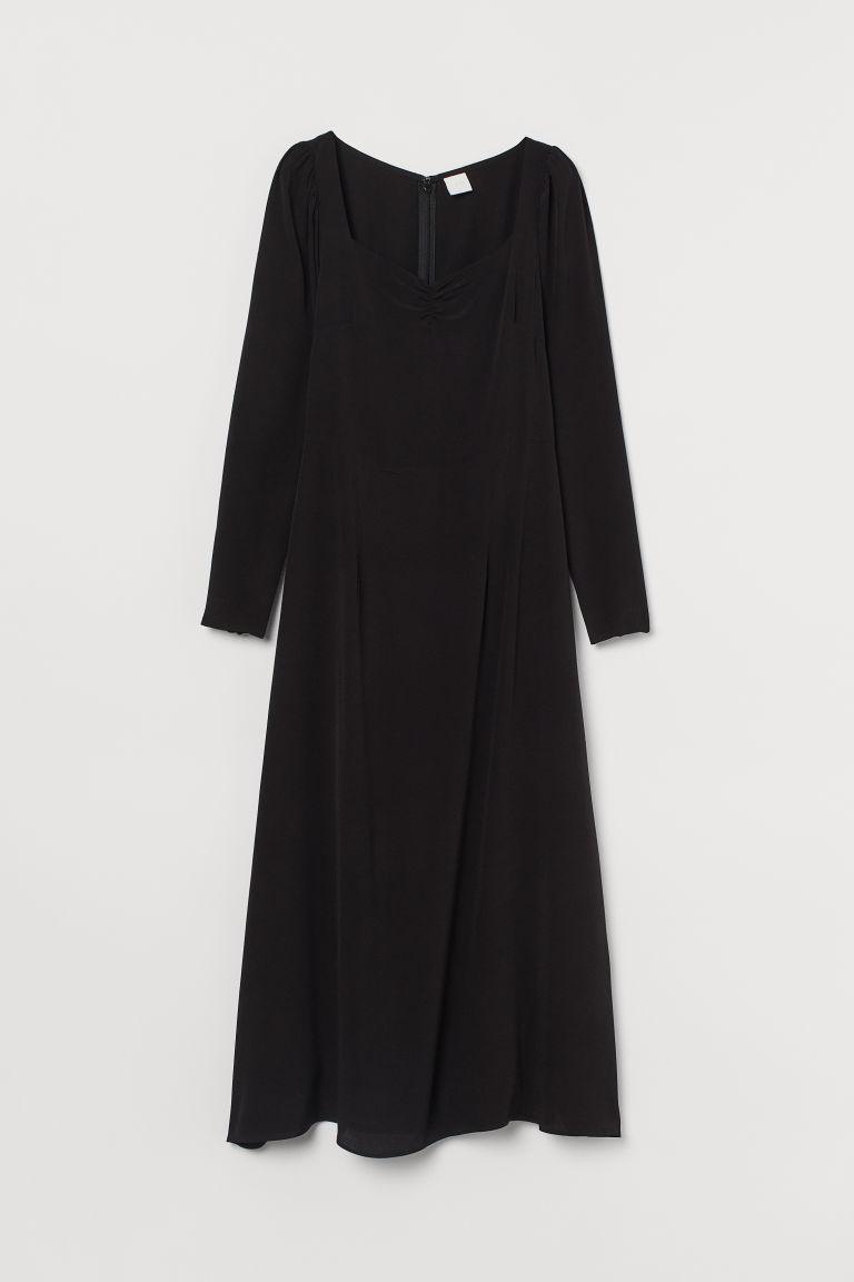 H & M - 公主袖洋裝 - 黑色