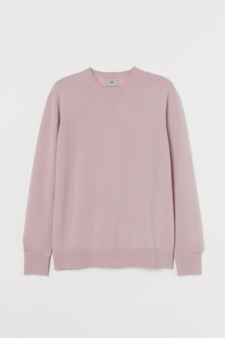 H & M - 美麗諾羊毛套衫 - 粉紅色