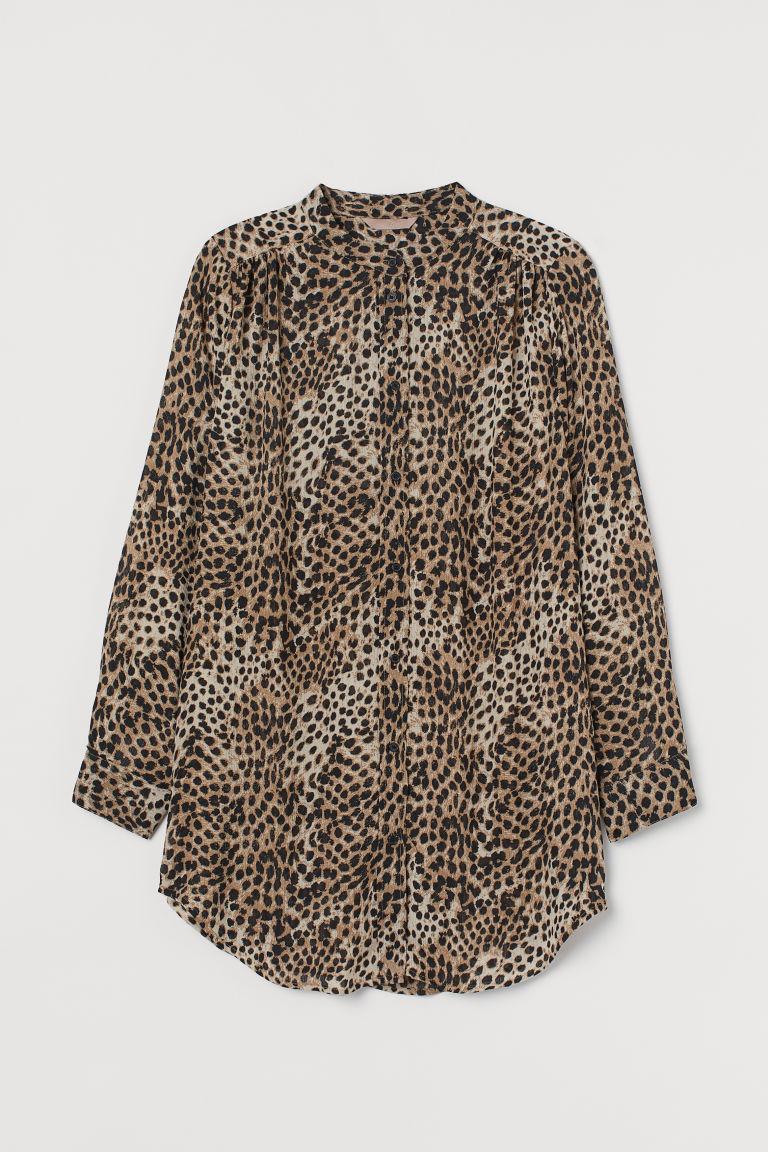 H & M - H & M+ 褶縐女衫 - 米黃色