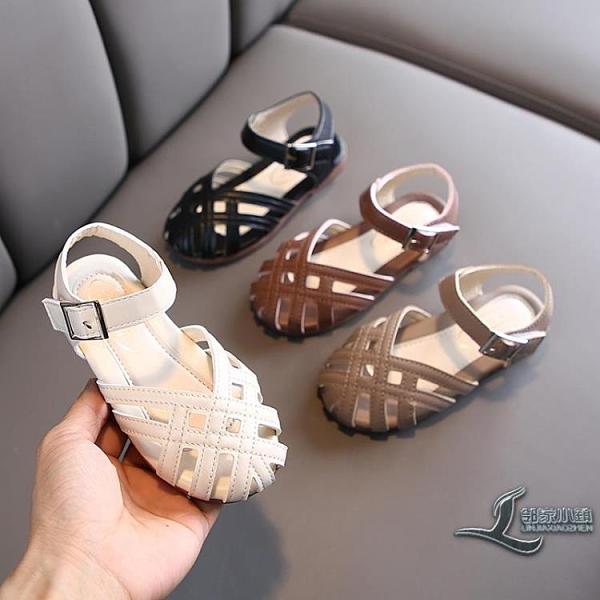兒童女童包頭小女孩公主涼鞋軟底寶寶鏤空鞋小童【邻家小鎮】