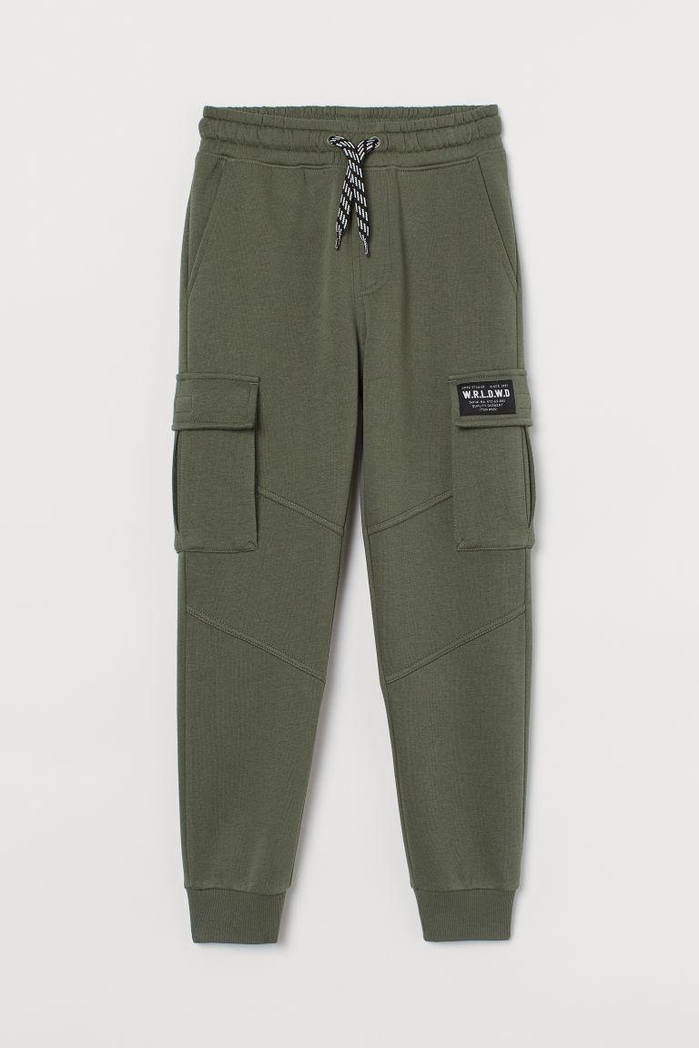 H & M - 工作慢跑褲 - 綠色