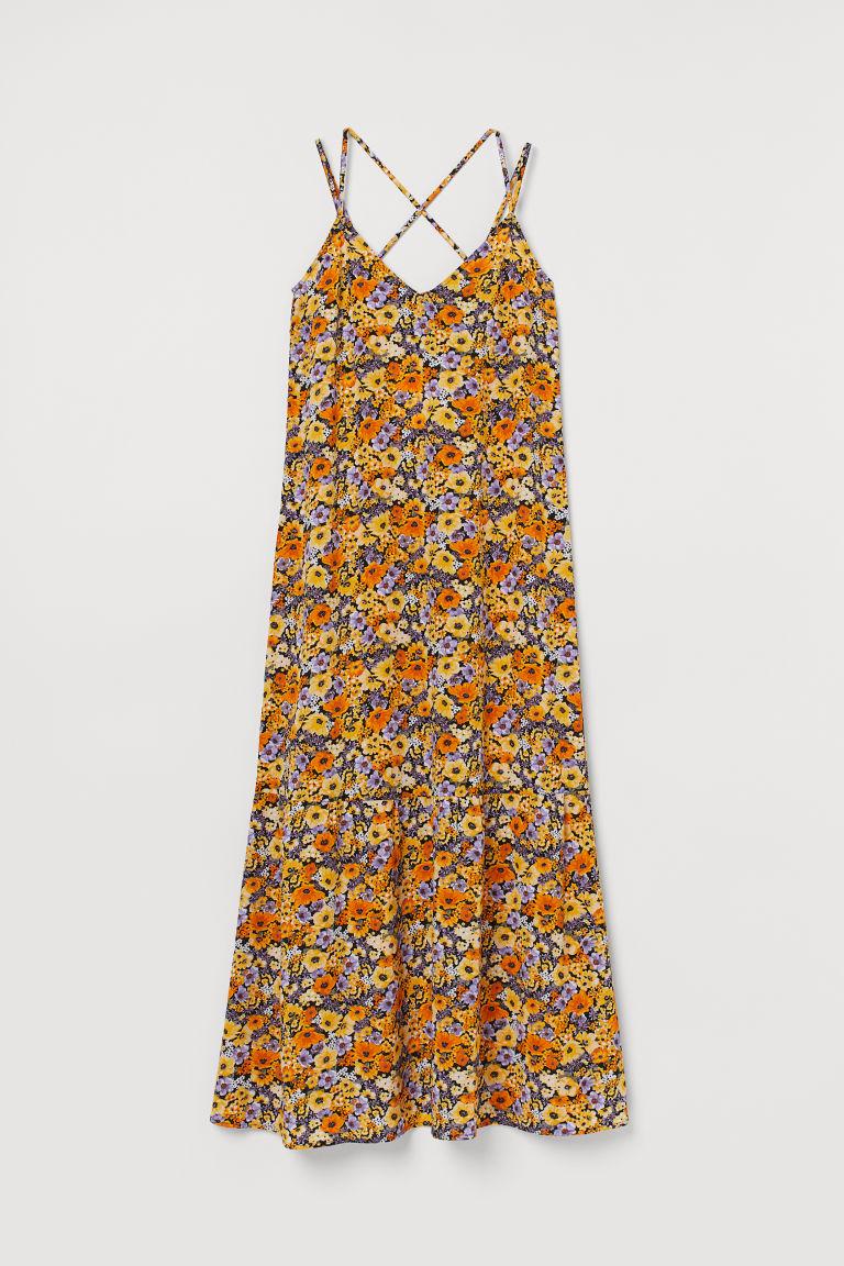 H & M - 縐紗洋裝 - 橙色
