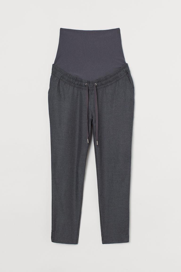 H & M - MAMA 斜紋慢跑褲 - 灰色