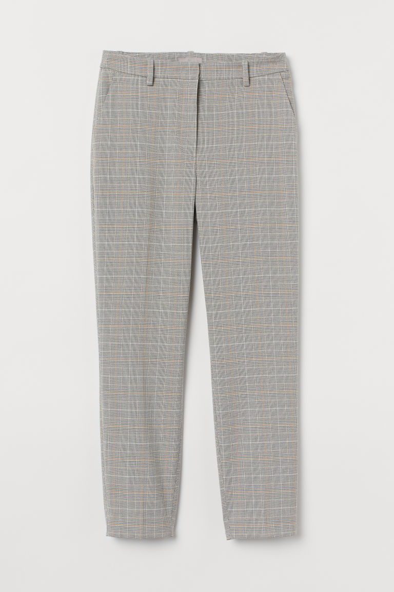 H & M - 煙管褲 - 銀色