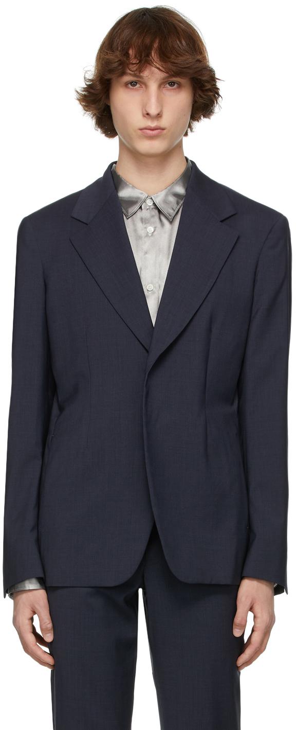 Comme des Garçons Homme Plus 灰色羊毛西装外套