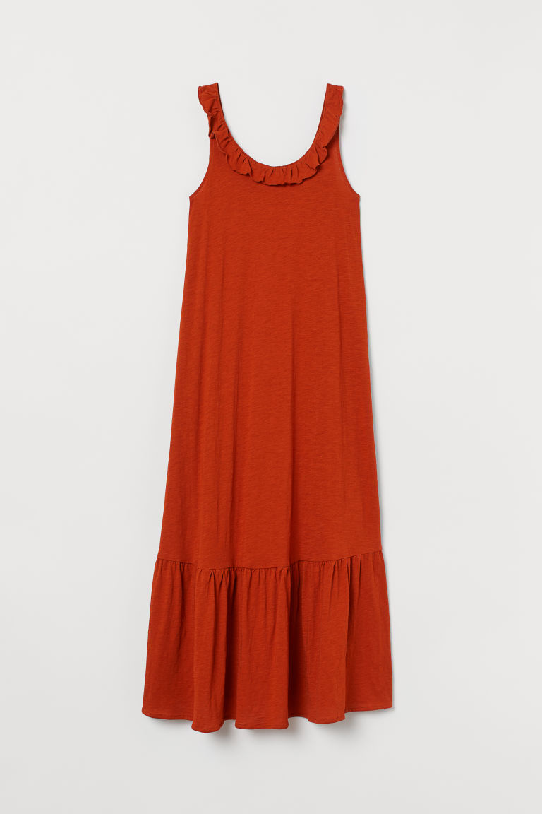 H & M - MAMA 平紋洋裝 - 橙色
