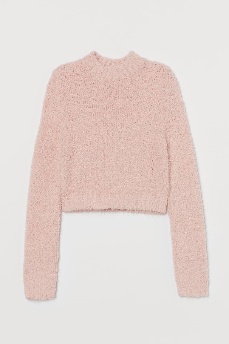 H & M - 毛圈紗套衫 - 粉紅色