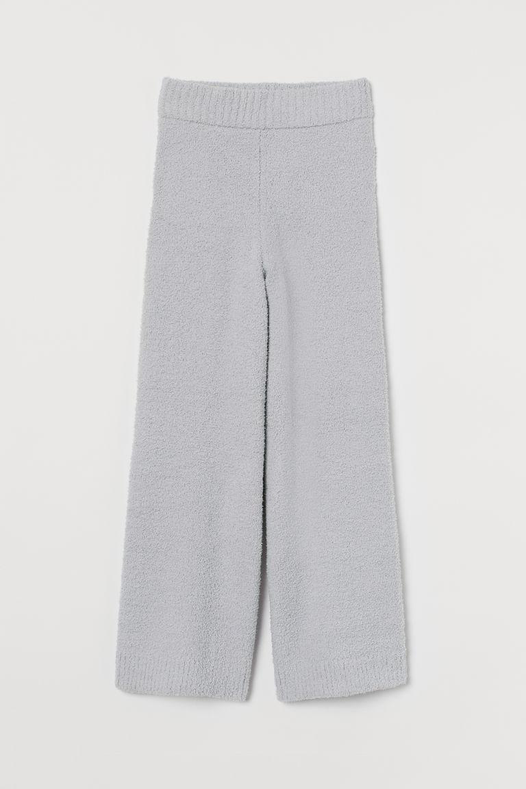 H & M - 毛茸長褲 - 灰色