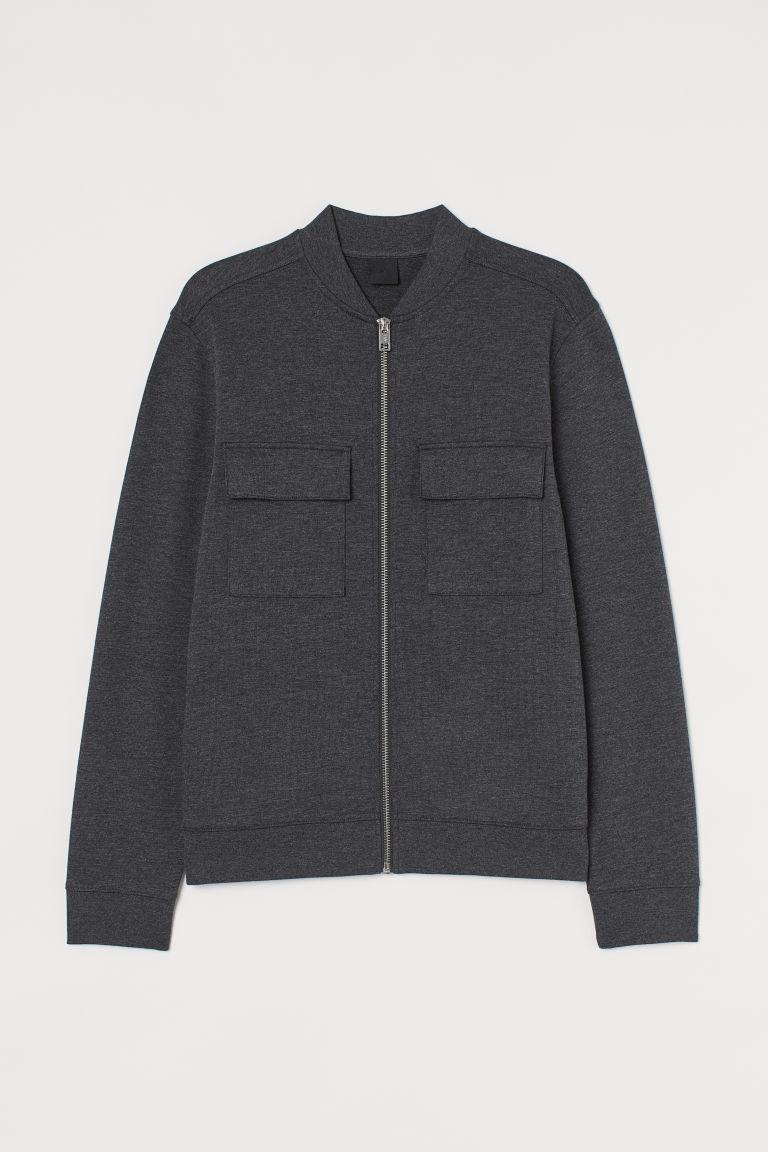H & M - 平紋飛行員外套 - 黑色