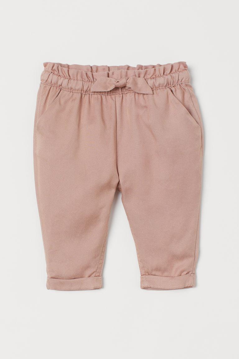 H & M - 反折長褲 - 橙色