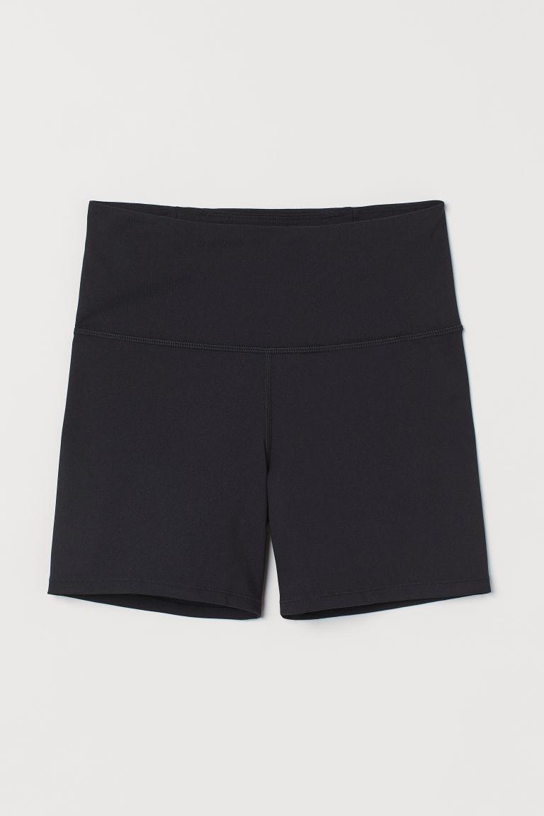 H & M - 高腰熱褲 - 黑色