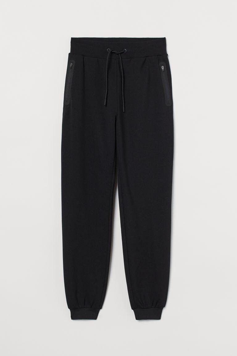 H & M - 運動慢跑褲 - 黑色