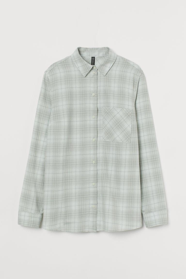 H & M - 棉質襯衫 - 綠色