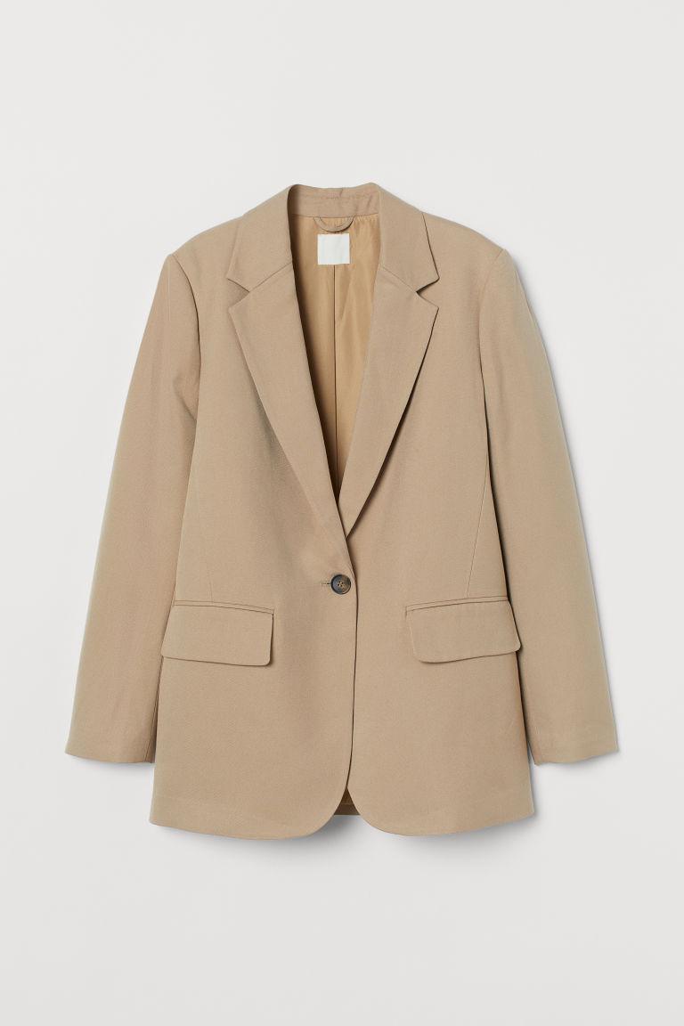 H & M - 加大碼外套 - 米黃色