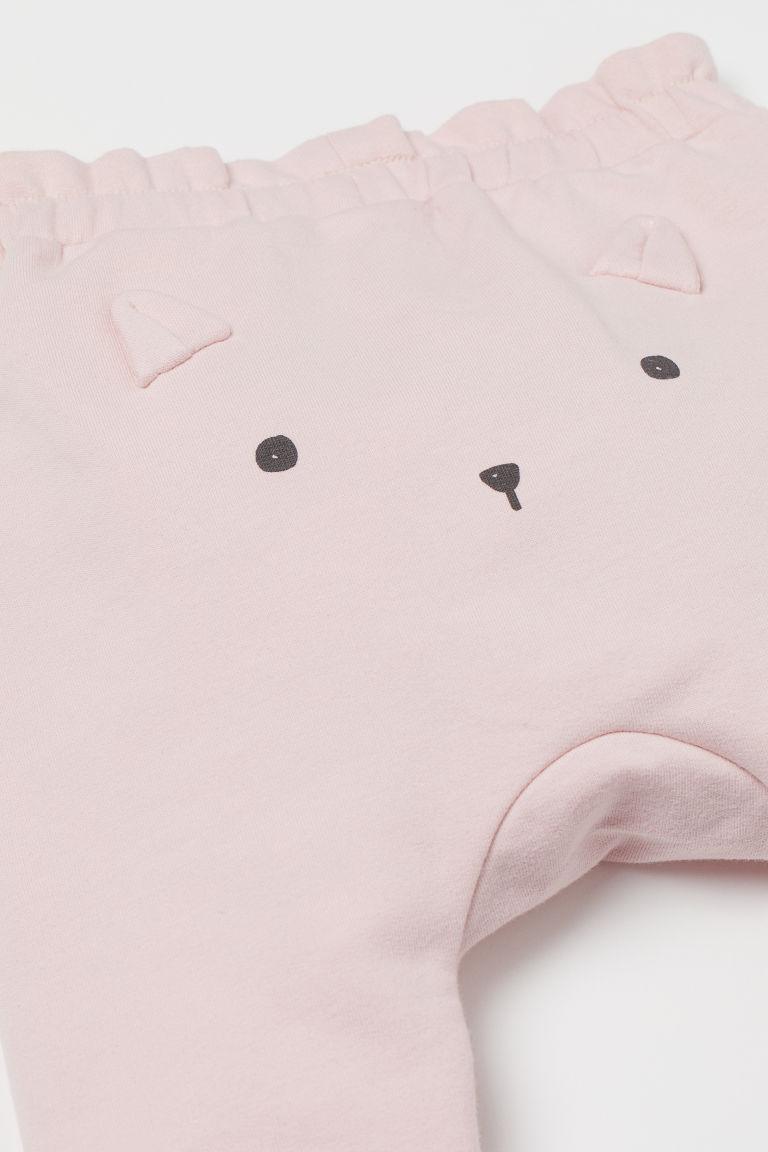 H & M - 2件入棉質長褲 - 粉紅色