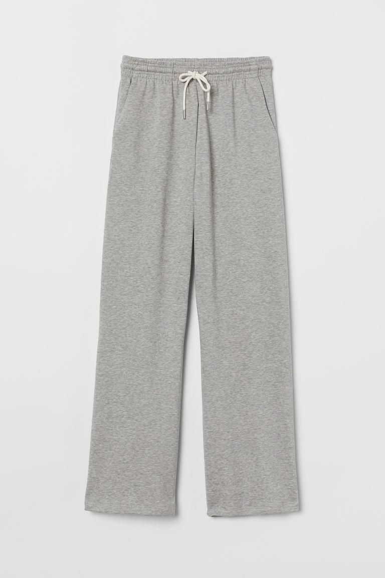 H & M - 直筒慢跑褲 - 灰色