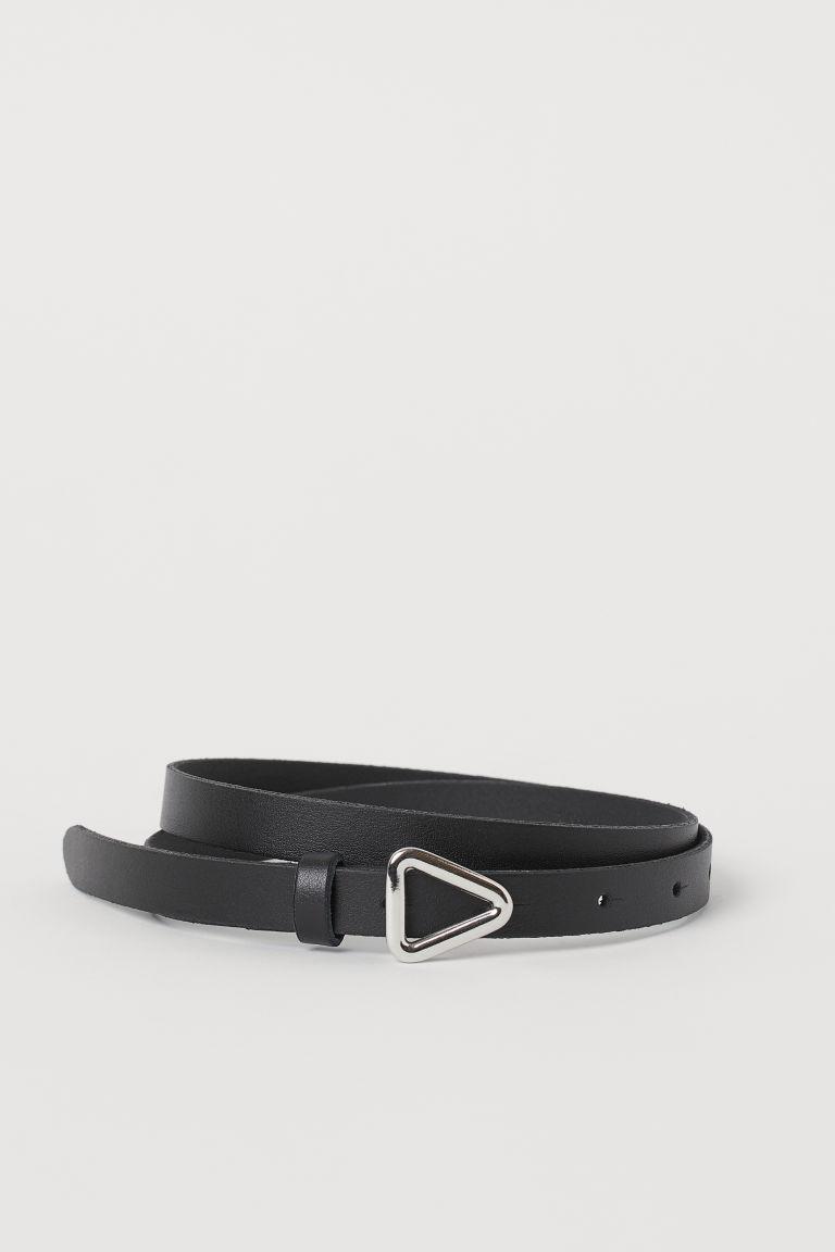 H & M - 真皮腰帶 - 黑色
