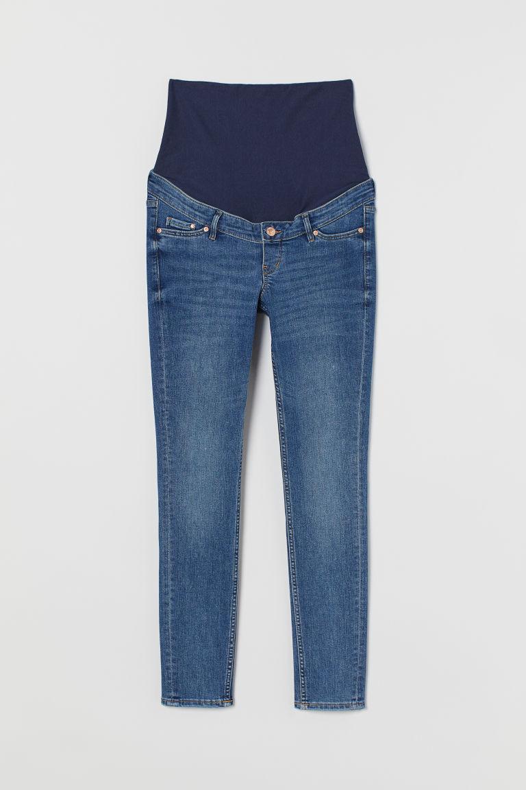 H & M - MAMA 窄管牛仔褲 - 藍色