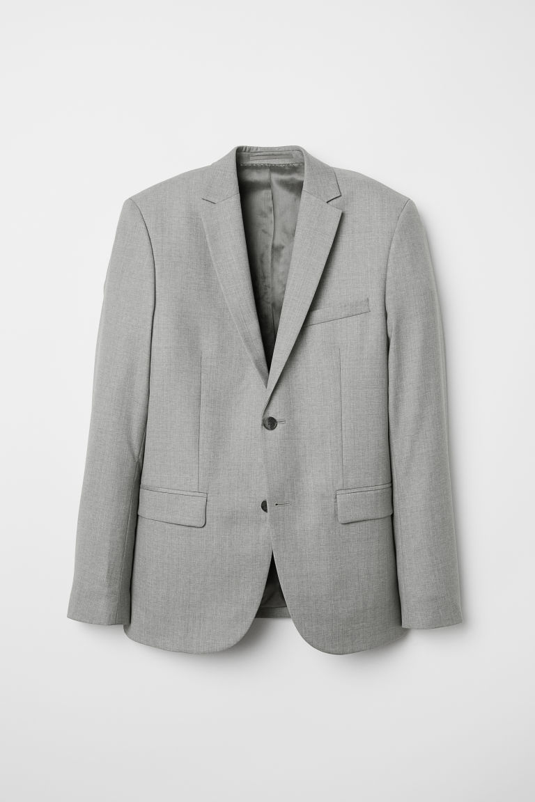 H & M - 貼身羊毛外套 - 灰色