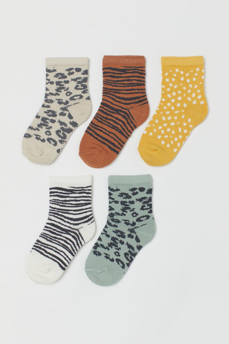 H & M - 5隻襪子 - 灰色