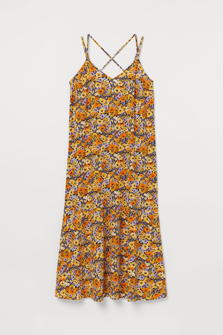 H & M - H & M+ 縐紗洋裝 - 橙色