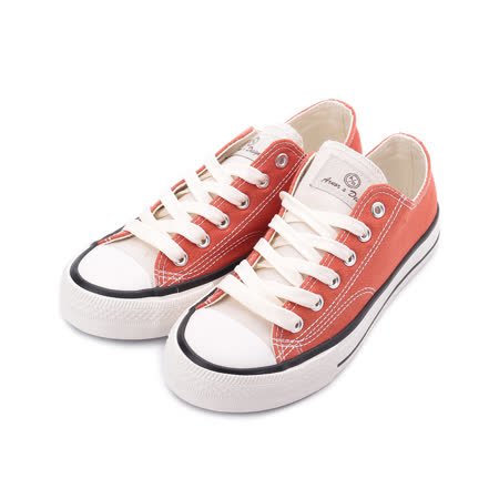 ARNOR 復古雙色帆布鞋 磚紅 ARWC12303 女鞋