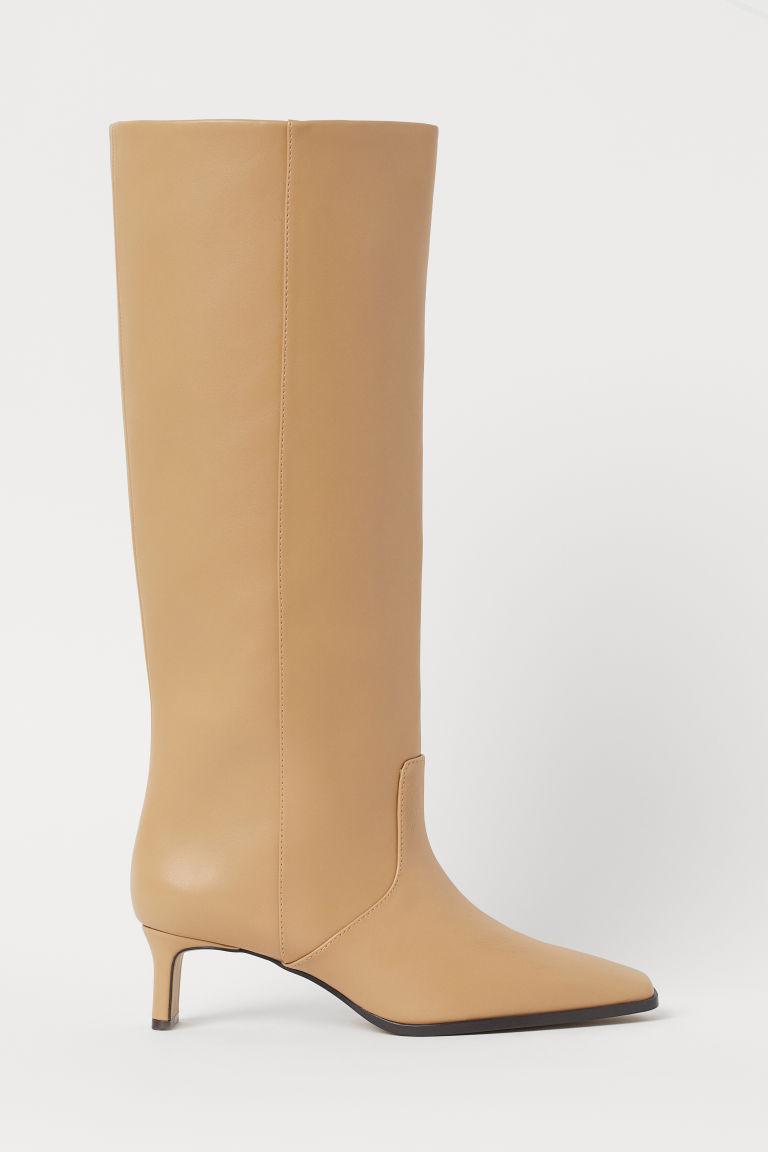 H & M - 靴子 - 米黃色