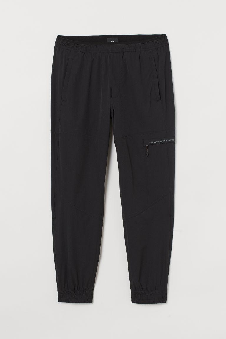 H & M - 合身慢跑褲 - 黑色