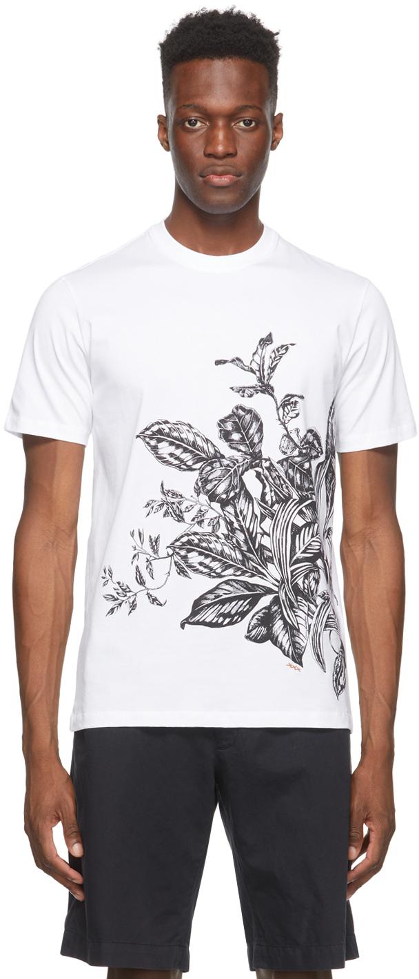 Ermenegildo Zegna Couture 白色 Floral Print T 恤
