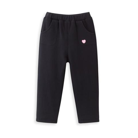 【網路獨家款】les enphants 兒童針織褲子(黑色)