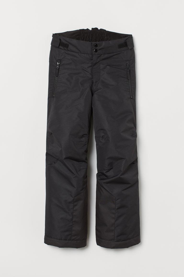 H & M - 防潑水長褲 - 黑色