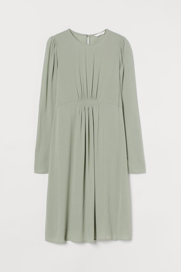 H & M - MAMA 公主袖洋裝 - 綠色