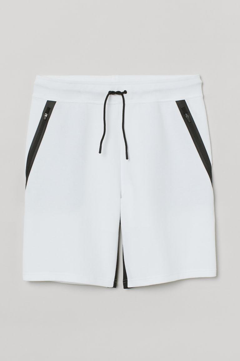 H & M - 合身運動短褲 - 白色