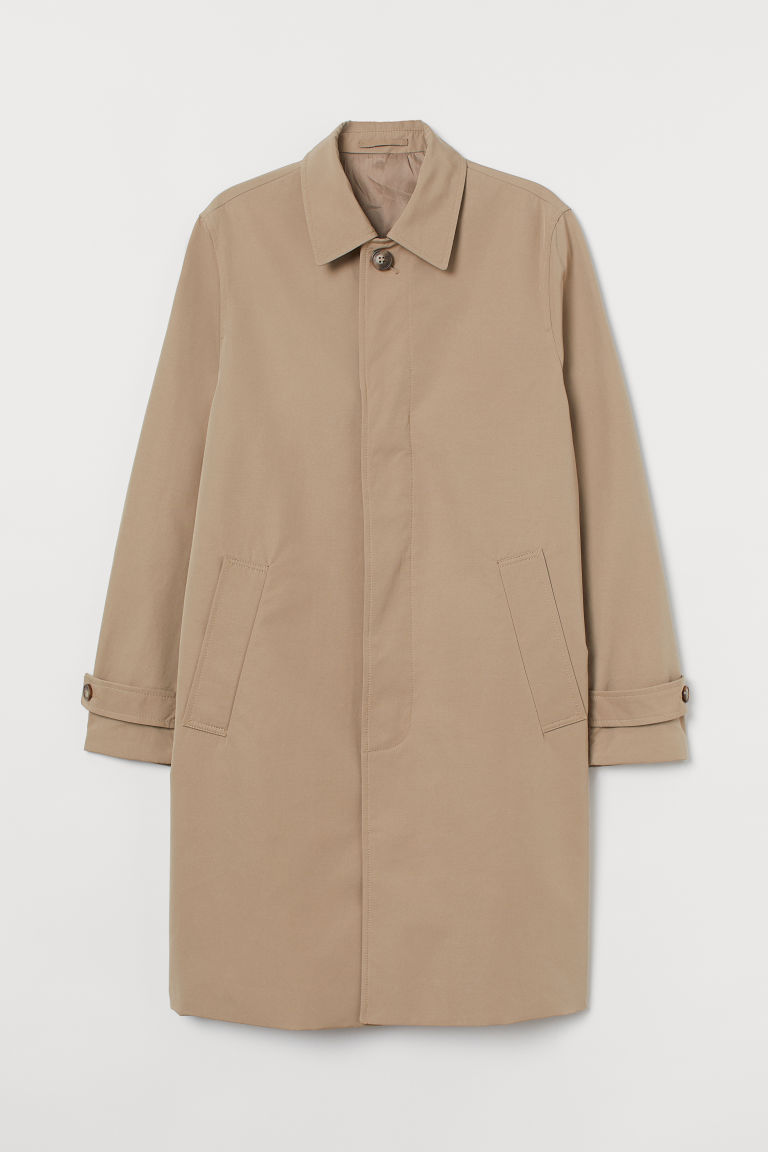 H & M - 短大衣 - 米黃色