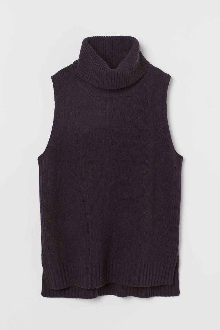 H & M - 喀什米爾羊毛混紡背心 - 紫色
