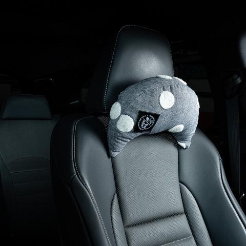 柔綿點點多功能車用枕-藍