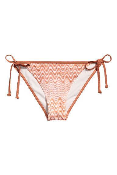 H & M - 綁帶比基尼小褲 - 橙色