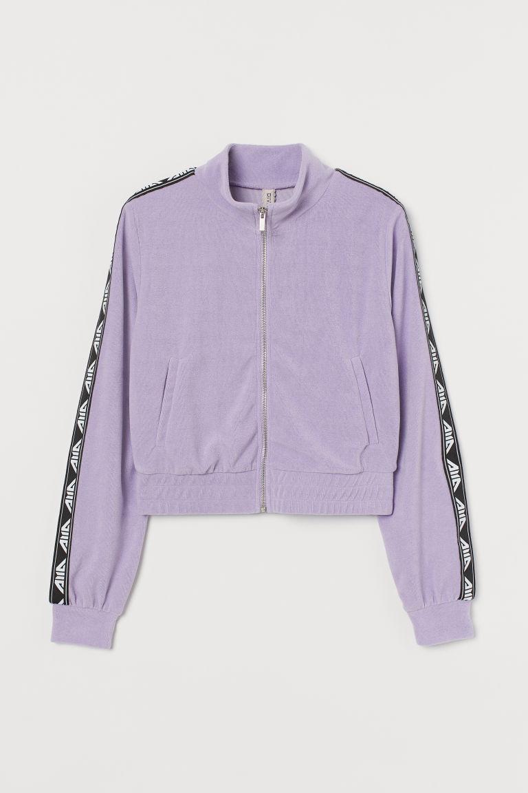 H & M - 絲絨外套 - 紫色