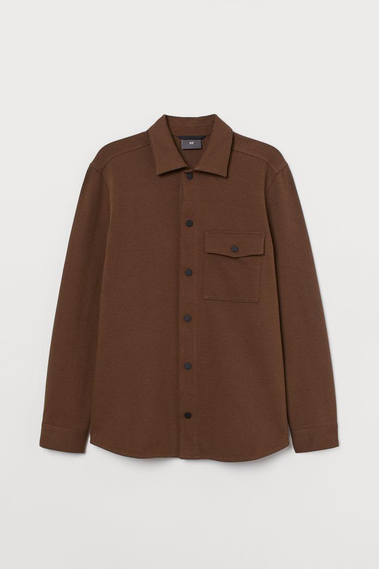 H & M - 襯衫式外套 - 米黃色