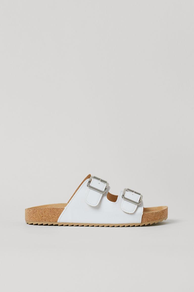 H & M - 涼鞋 - 白色