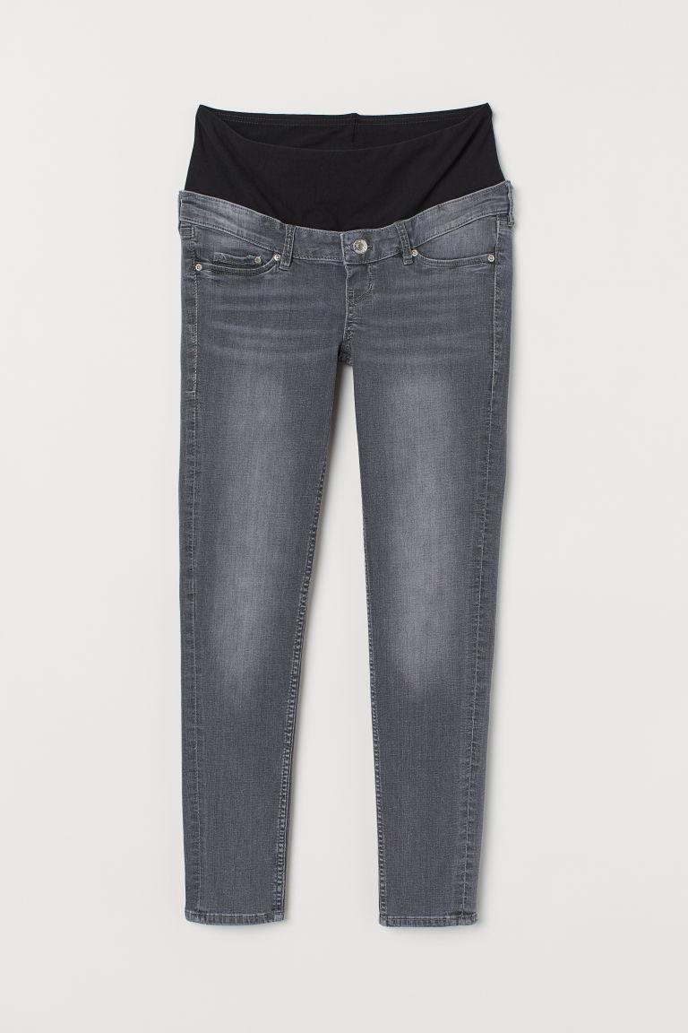 H & M - MAMA 窄管九分牛仔褲 - 灰色