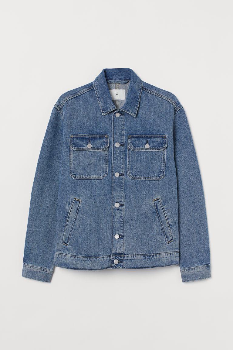 H & M - 棉質丹寧外套 - 藍色