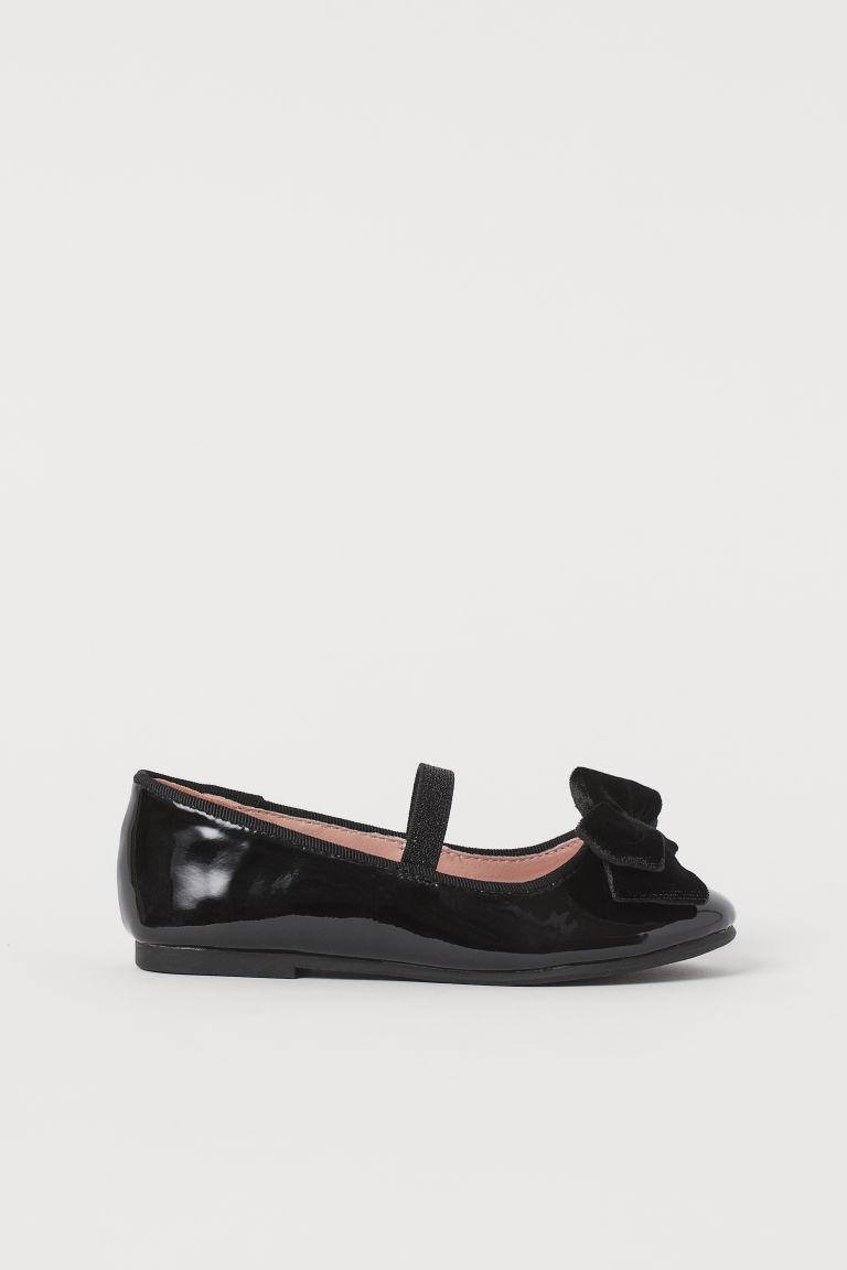 H & M - 芭蕾淺口鞋 - 黑色