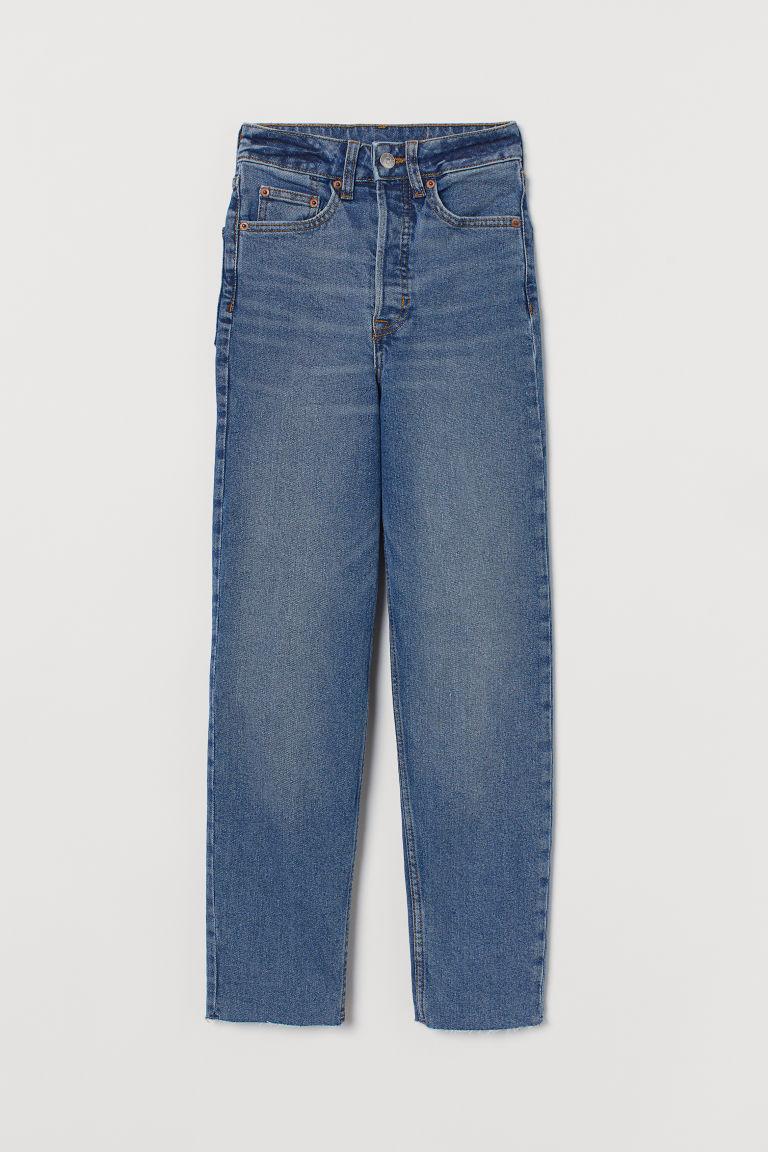 H & M - 貼身老媽牛仔褲 - 藍色